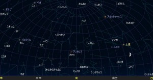 大阪の夜空の星座